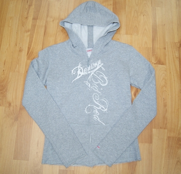 Denison Youth Girls Zip-Up Hoodie Grey