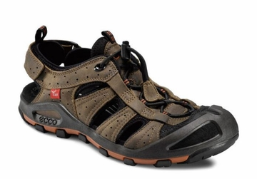 Ecco Mens Terra VG Sandal Black/ Navajo Brown (Close Out)