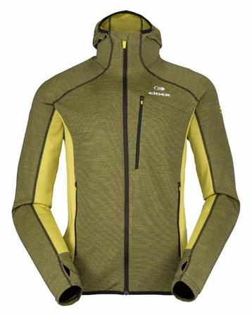 Eider Mens Shift Wool Hoodie Green Lime