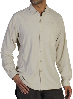 ExOfficio Mens Bugsaway Beez'r Long-Sleeve Shirt Bone