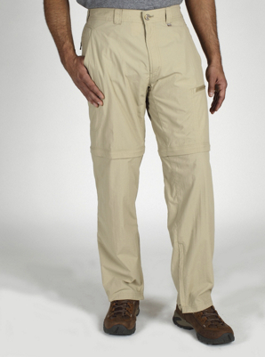 "ExOfficio Mens Bugsaway Ziwa Convertible Pant 32"" Inseam Light Khaki"