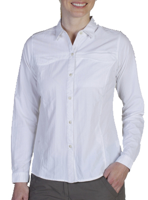 ExOfficio Womens Bugsaway Breez'r Long-Sleeve Shirt White (Close Out)