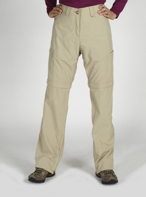 "ExOfficio Womens Bugsaway Ziwa Convertible Pant 32"" Inseam Light Khaki"