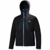 Helly Hansen Mens Alpha Jacket Black/ Racer Blue