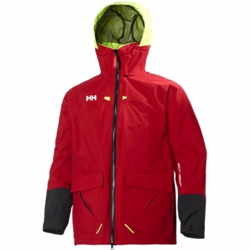 Helly Hansen Mens Crew Coastal Jacket 2 Red