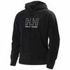 Helly Hansen Mens Fleece Logo Hoodie Black