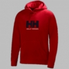 Helly Hansen Mens Fleece Logo Hoodie Red
