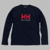 Helly Hansen Mens Logo Long Sleeve Tee Navy