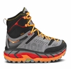 Hoka One One Mens Tor Ultra Hi Waterproof Black/ Flame