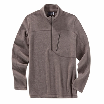 Ibex Mens Scout 1/2 Zip Gravel Heather (Autumn 2013)