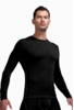 Icebreaker Mens Anatomica Long Sleeve Crewe Black