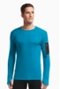Icebreaker Mens Apex Long Sleeve Crewe Alpine/ Carbon/ Carbon
