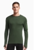 Icebreaker Mens Apex Long Sleeve Crewe Conifer/ Conifer/ Balsam