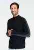 Icebreaker Mens Coronet Hrtg Long Sleeve Half Zip Black (Autumn 2013)