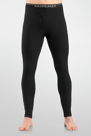 Icebreaker Mens Oasis Leggings with Fly Black (Close Out)