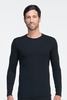 Icebreaker Mens Oasis Long Sleeve Crewe Black (Autumn 2013)