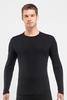 Icebreaker Mens Oasis Long Sleeve Crewe Black (Autumn 2014)