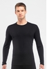 Icebreaker Mens Oasis Long Sleeve Crewe Black (Close Out)
