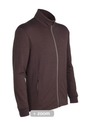 Icebreaker Mens Quattro Long Sleeve Zip Walnut (Autumn 2013)