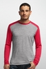 Icebreaker Mens Oasis Long Sleeve Crewe Metro Heather/ Rocket/ Rocket (Autumn 2014)
