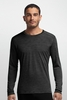 Icebreaker Mens Oasis Long Sleeve Crewe Stripe Black/ Black (Autumn 2014)