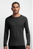 Icebreaker Mens Oasis Long Sleeve Crewe Stripe Black/ Black (Close Out)