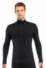 Icebreaker Mens Oasis Long Sleeve Half Zip Black (Close Out)