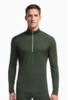 Icebreaker Mens Oasis Long Sleeve Half Zip Conifer/ Conifer/ Balsam