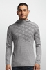 Icebreaker Mens Oasis Long Sleeve Half Zip Cubert Koch Metro Heather (Close Out)