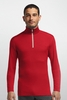 Icebreaker Mens Oasis Long Sleeve Half Zip Rocket/ Snow (Autumn 2014)