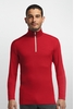 Icebreaker Mens Oasis Long Sleeve Half Zip Rocket/ Snow (Close Out)