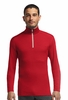 Icebreaker Mens Oasis Long Sleeve Half Zip Rocket/ Snow Small