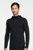 Icebreaker Mens Oasis Long Sleeve Hood Black (Autumn 2013)