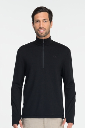 Icebreaker Mens Original Long Sleeve Half Zip Black (Autumn 2013)