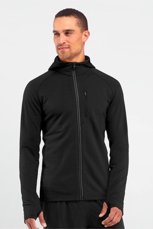 Icebreaker Mens Quantum Long Sleeve Hood Black (Spring 2014)