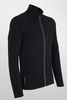 Icebreaker Mens Quantum Long Sleeve Zip Black (Autumn 2013)