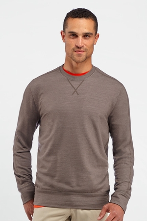 Icebreaker Mens Rover Long Sleeve Crewe Trail Heather (Spring 2014)