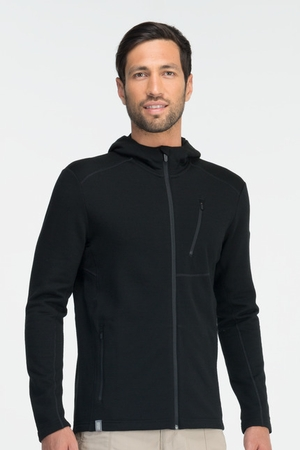Icebreaker Mens Sierra Long Sleeve Hood Black (Autumn 2013)