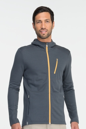 Icebreaker Mens Sierra Long Sleeve Hood Monsoon (Autumn 2013)