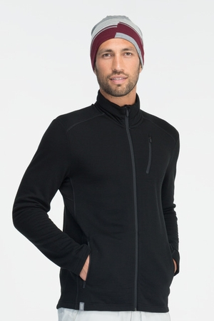 Icebreaker Mens Sierra Long Sleeve Zip Black (Autumn 2013)
