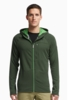 Icebreaker Mens Sierra Long Sleeve Zip Hoodie Conifer/ Balsam/ Balsam