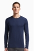Icebreaker Mens Tech Top Long Sleeve Crewe Admiral