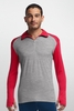 Icebreaker Mens Tech Top Long Sleeve Half Zip Metro Heather/ Rocket (Autumn 2014)
