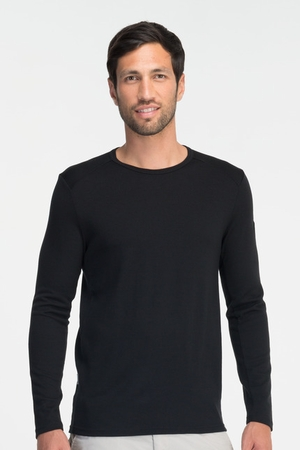 Icebreaker Mens Tech Top Long Sleeve Crewe Black (Autumn 2013)