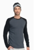 Icebreaker Mens Tech Top Long Sleeve Crewe Monsoon/ Black