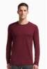 Icebreaker Mens Tech Top Long Sleeve Crewe Redwood