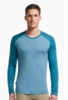 Icebreaker Mens Tech Top Long Sleeve Crewe Tundra/ Shore