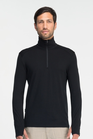 Icebreaker Mens Tech Top Long Sleeve Half Zip Black (Autumn 2013)