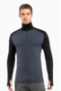 Icebreaker Mens Tech Top Long Sleeve Half Zip Monsoon/ Black