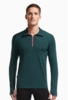 Icebreaker Mens Tech Top Long Sleeve Half Zip Nori Heather/ Clay